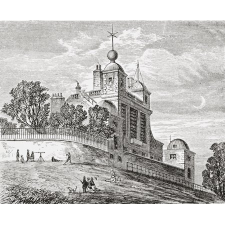 Royal Observatory Greenwich London England From The Gallery Of Geography Published London Circa 1872 Canvas Art - Ken Welsh  Design Pics (15 x 12)