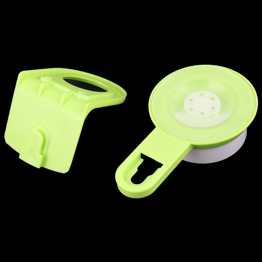 Bathroom Plastic Wall Mounted Suction Cup Body Wash Shower Gel Holder Rack Green - image 1 of 3