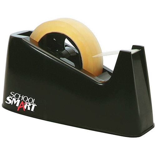School Smart Tape Dispenser with Interchangeable 1 and 3 Inch Cores, Black by Generic