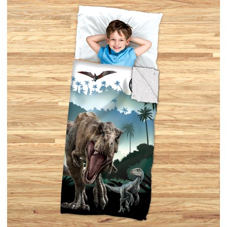 Jurassic World Kids 2-in-1 Slumber Bag and Cozy Cover
