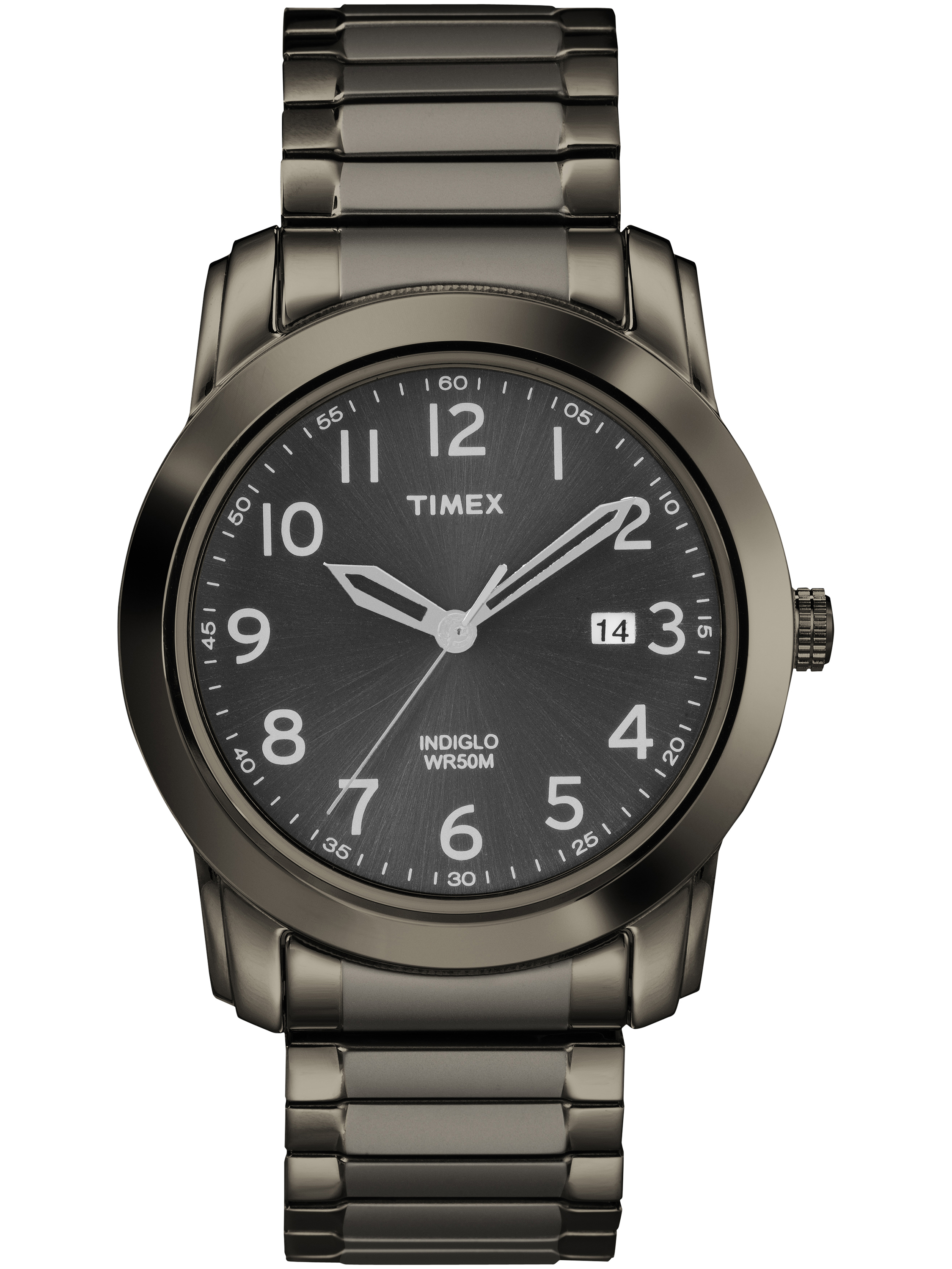 Timex Men's Highland Street Watch, Gray Stainless Steel Expansion Band by Timex