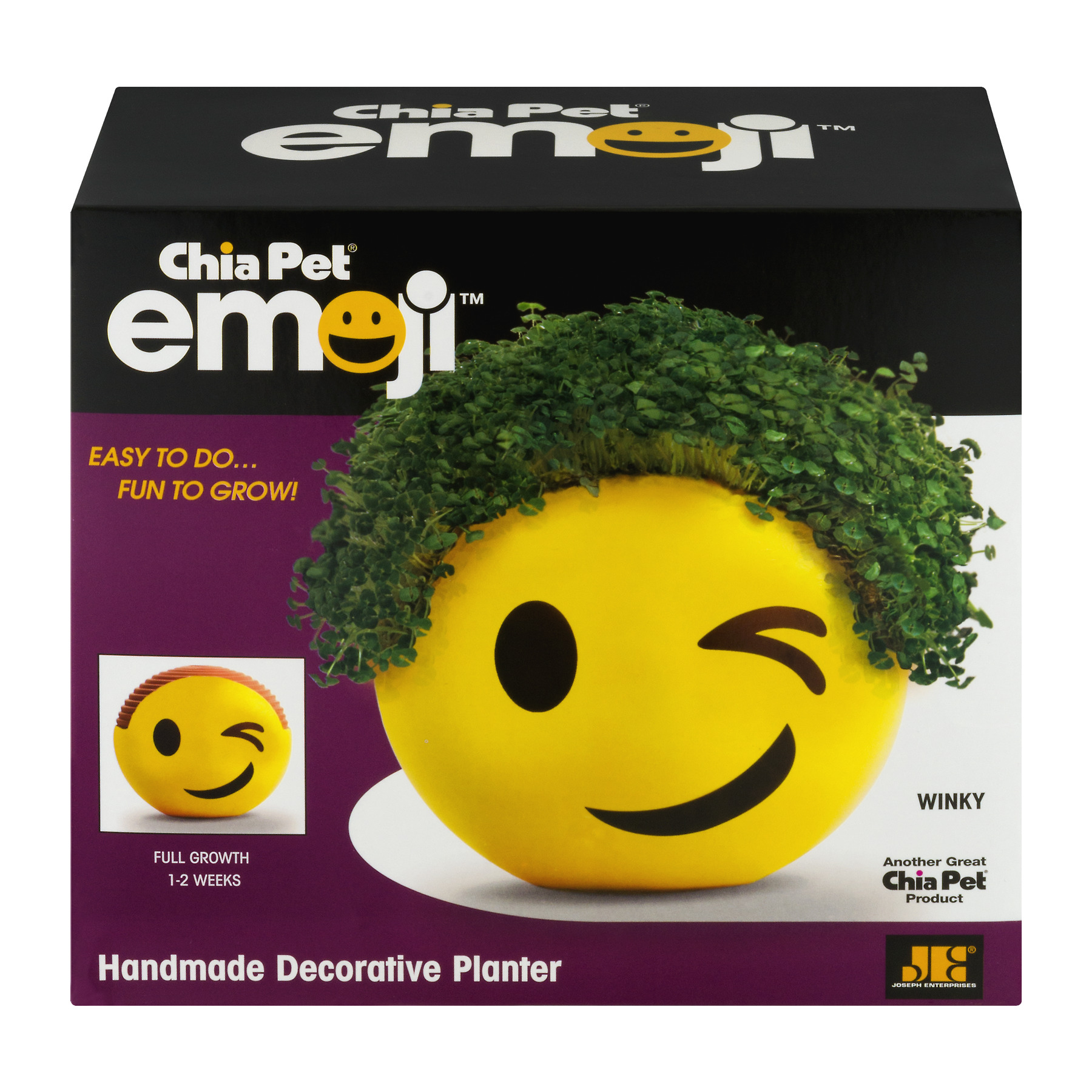 "As Seen on TV Chia Pet Emoji ""Winky"""
