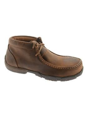 Women's Twisted X WDMST01 Steel Toe Moc Work Shoe Dark Brown Full Grain 7 W