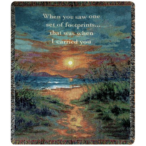 Manual Woodworkers & Weavers I Carried You Tapestry Cotton Throw