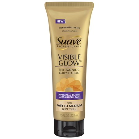 Grow Monkey - Professionals Visible Glow Self-Tanning Body Lotion, Fair to Medium 7.5 oz By Suave