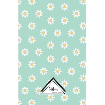 Notebook Journal Dot-Grid, Graph, Lined, No Lined: Feminine Little White Blue Daisy: Small Pocket Notebook Journal Diary, 120 Pages, 5.5 X 8.5