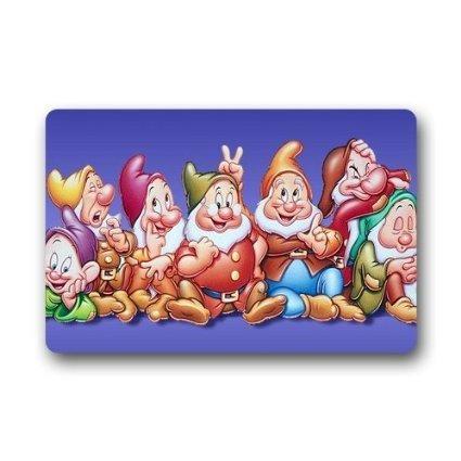 DEYOU Modern Snow White and the Seven Dwarfs Doormat Outdoor Indoor Floor Mats Non-Slip Bathroom Mats Size 23.6x15.7 Inch