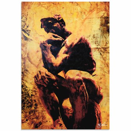 Metal Art Studio Rodin Clarified Thought By Mark Lewis Painting Print