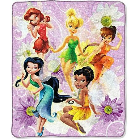 3c399192993 Disney - TinkerBell Fairies Throw Blanket