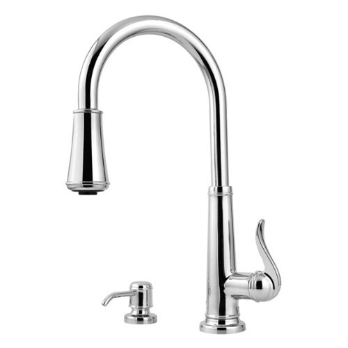 Pfister Ashfield High Arc Kitchen Faucet with 2 Function Pullout AccuDock Sprayhead, Available in Various... by Price-Pfister