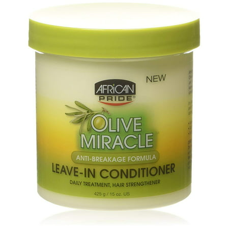 African Pride Olive Miracle Anti Breakage Leave Conditionneur 15 oz - 15 oz - image 1 de 1