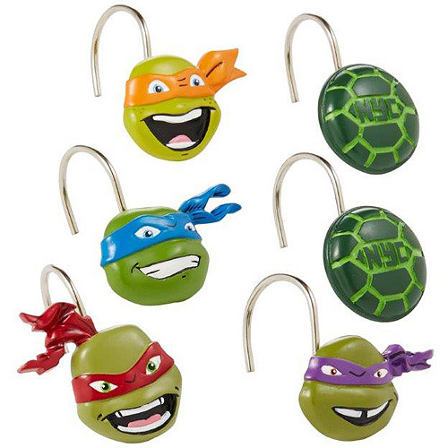 Nickelodeon Teenage Mutant Ninja Turtles Shower Curtain Hooks
