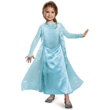Girls Frozen Elsa Sparkle Deluxe Toddler Costume - Size Small