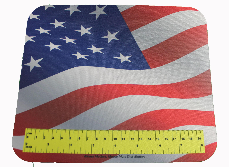 Mouse Mats Usa Flag Mouse Pad With Actual Size Ruler Walmart Com Walmart Com
