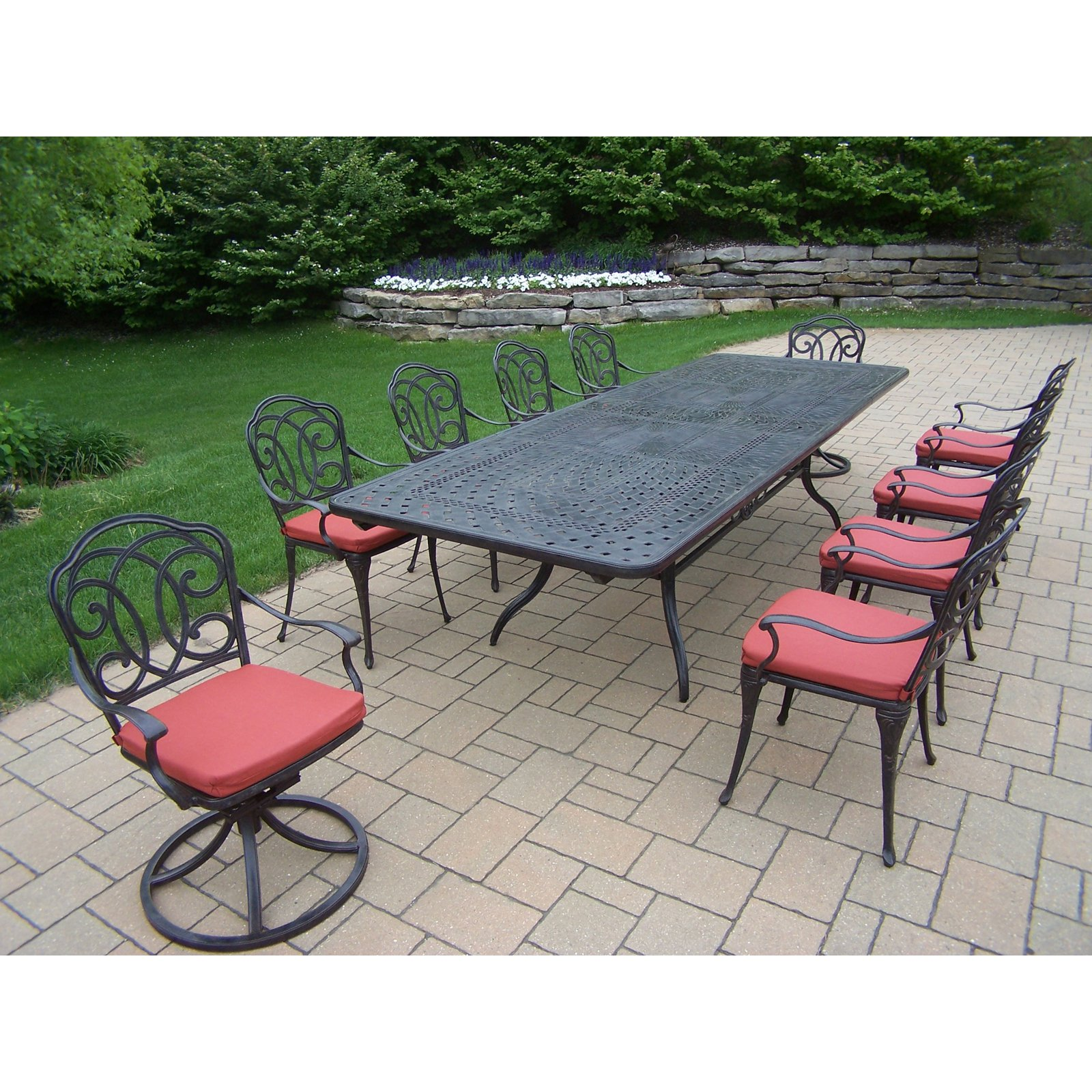 Oakland Living Berkley Aluminum 11 Piece Rectangular Patio Dining Room Set with Extension by Oakland Living Corporation