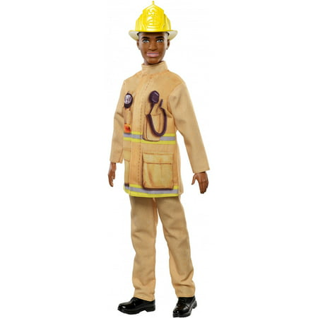 Barbie Ken Careers Firefighter Doll with Career-Themed Accessories