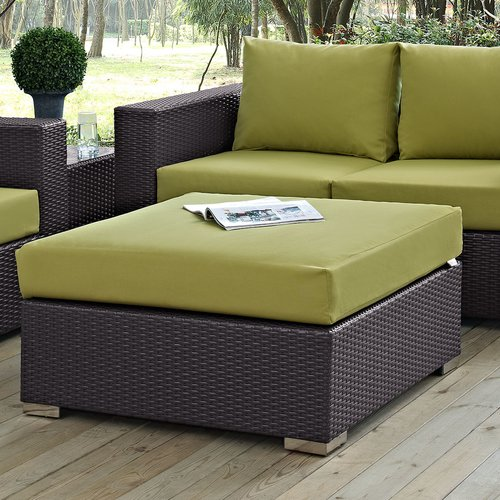 Sol 72 Outdoor Brentwood Outdoor Ottoman with Cushion