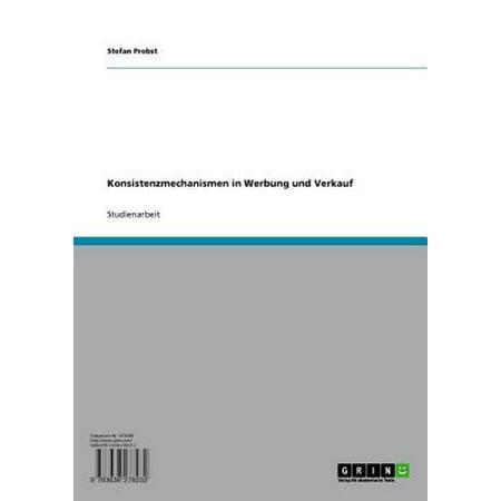 Konsistenzmechanismen in Werbung und Verkauf - eBook (Verkauf Nz Online)