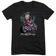 Betty Boop City Chopper Mens Tri-Blend Short Sleeve Shirt