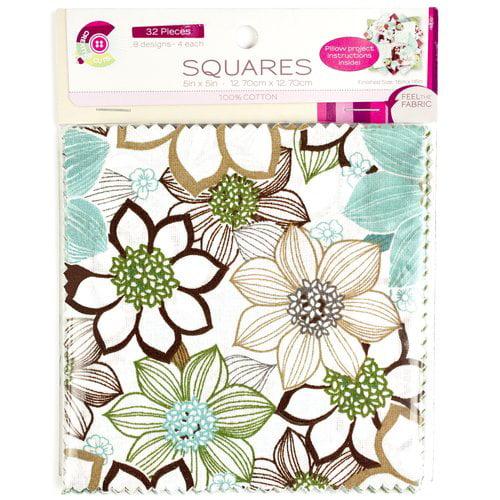 Creative Cuts Wildflower Pre-Cut Fabric Squares, 32-Count