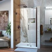 DreamLine Unidoor 40-41 in. W x 72 in. H Frameless Hinged Shower Door with Support Arm in Oil Rubbed Bronze