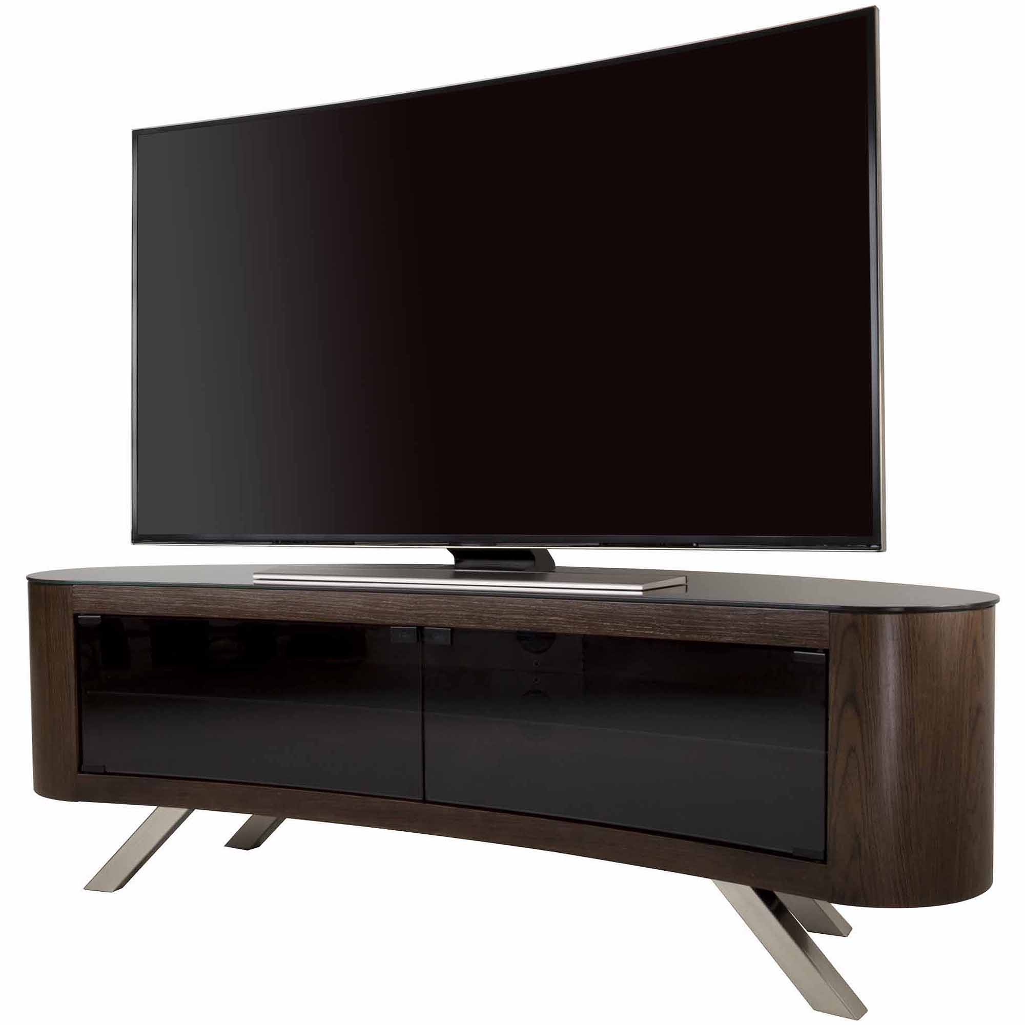 Avf Bay Curved Tv Stand For Tvs Up To 70 Walmartcom