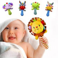 Baby Lathe Hanging Ring Animal Rattle Crib Hanging Baby Stroller Hanging Toys Teethers Stuffed Doll