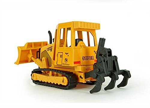 1:64 Construction Car Toy Figure Action Movable Bulldozer Building Industrial Earth Moving... by