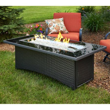 Outdoor Greatroom Montego Black Fire Table With Free
