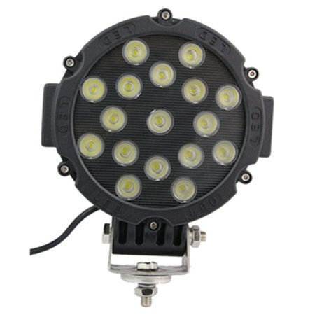 6x 51W Round Led Light Pod 7inch Spot Work Off Road Roof Bar Bumper Driving BLK ()