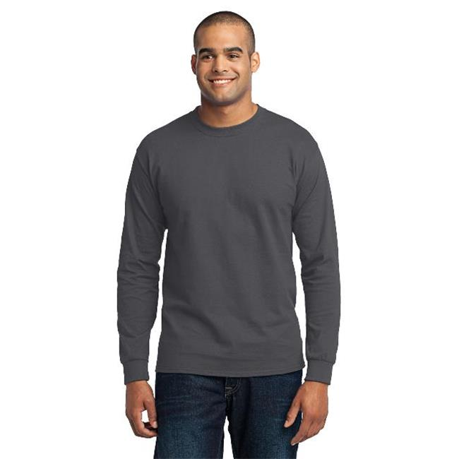 Port & Company® - Long Sleeve Core Blend Tee. Pc55ls Charcoal S - image 1 of 1