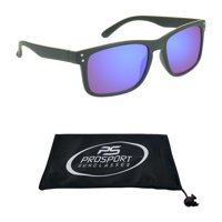 f957f37045c Product Image proSPORT Reading Sunglass Full Sun Readers. Horn Rim Black  Frame and Blue Mirrored Lenses for
