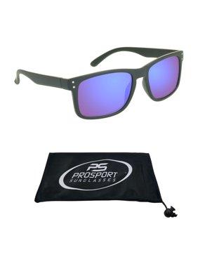 2122e5b60030 Product Image proSPORT Reading Sunglass Full Sun Readers. Horn Rim Black  Frame and Blue Mirrored Lenses for
