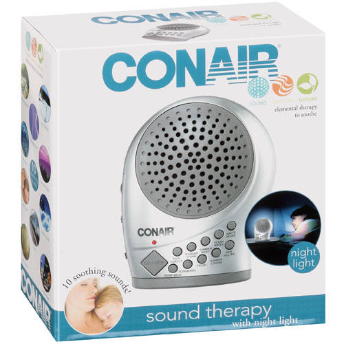 Conair Sleep Therapy Sound Machine with Night Light and Auto-Off