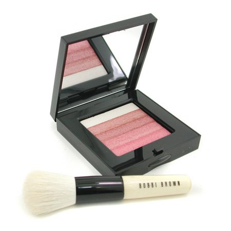 Pink Shimmer Brick - Bobbi Brown - Rose Shimmer Brick Set: Rose Shimmer Brick Compact + Mini Face Blender Brush (Limited Edition) -2pcs