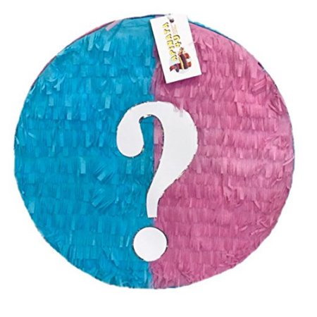 APINATA4U Pink & Blue Gender Reveal Pinata](Baby Carriage Pinata)