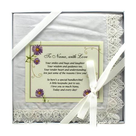 To Nana With Love Decorative Keepsake Handkerchief - By