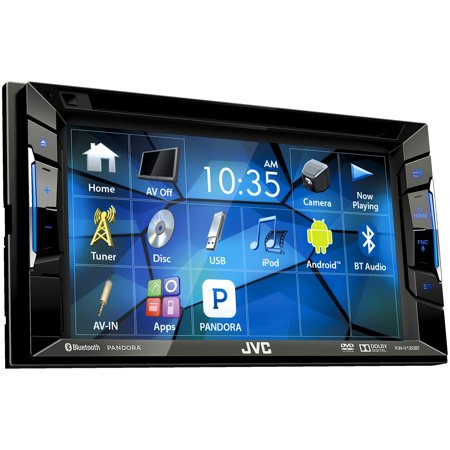 "JVC Refubished KW-V120BT Double DIN Bluetooth In-Dash DVD CD AM FM Car Stereo w  6.2"" Touchscreen and... by JVC"