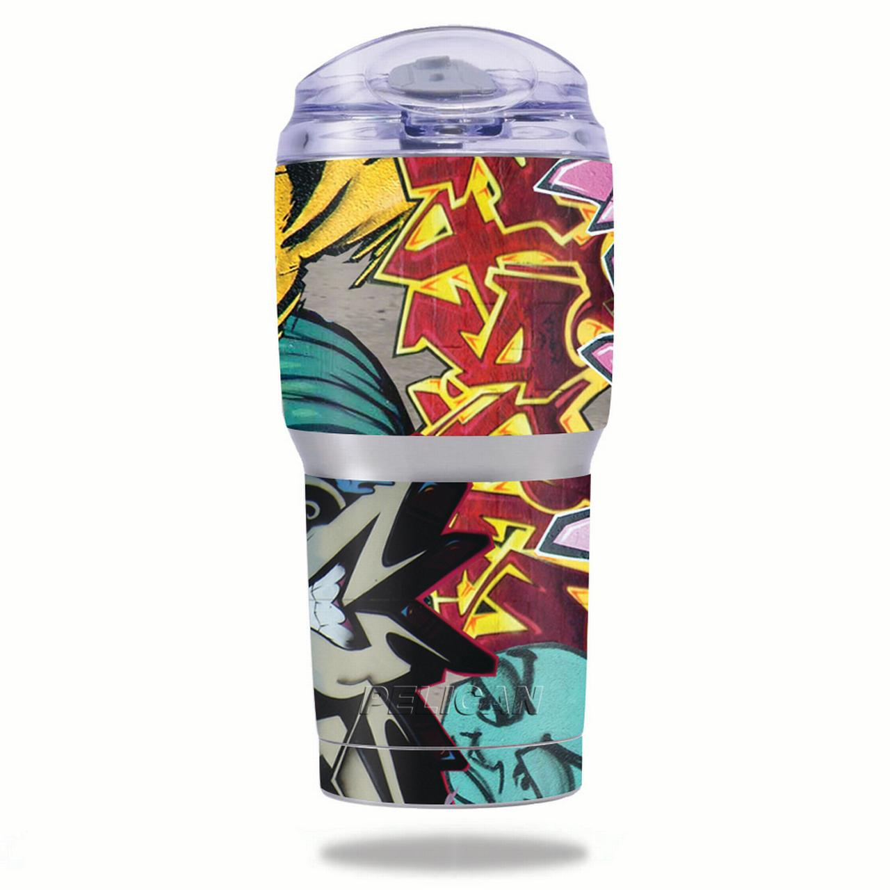 MightySkins Protective Vinyl Skin Decal for Pelican Tumbler 22 oz wrap cover sticker skins Graffiti Wild Styles