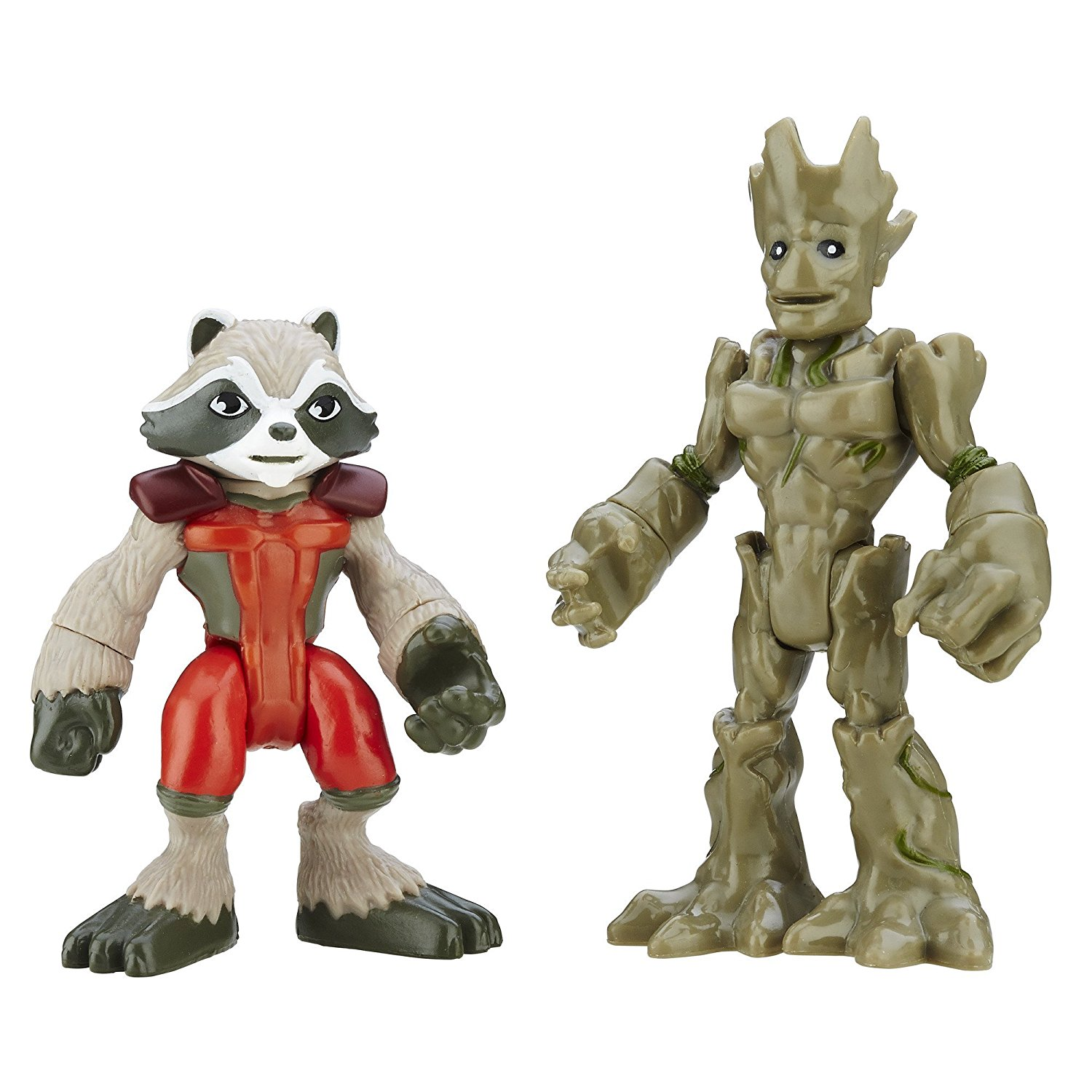 Heroes Marvel Super Hero Adventures Groot and Rocket RaccoonSized right for little hands... by