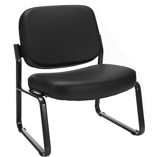 OFM Big and Tall Armless Vinyl Guest Chair