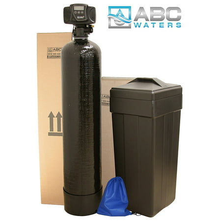 ABCwaters built Fleck 5600sxt 48,000 Black WATER SOFTENER + Hardness Test + Install