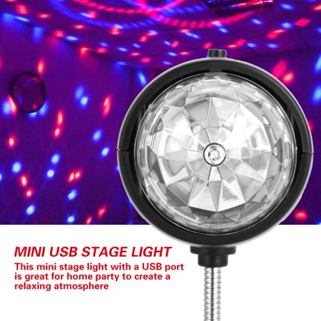 Anauto USB Mini Stage Lamp Portable LED RGB / White Light Disco Party Lighting Fixture Room Decor, Mini USB Stage Light,USB Stage Light (Disco Decor)
