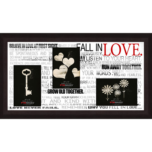 "Fall In Love IV 20"" x 10"" Collage Picture Frame"