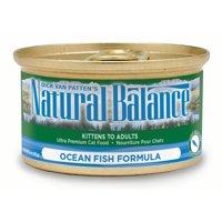 Natural Balance Ocean Fish Formula Wet Cat Food, 3-Ounce Can (Pack of 24)