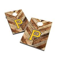 Pittsburgh Pirates 2' x 3' Logo Cornhole Board Tailgate Toss Set