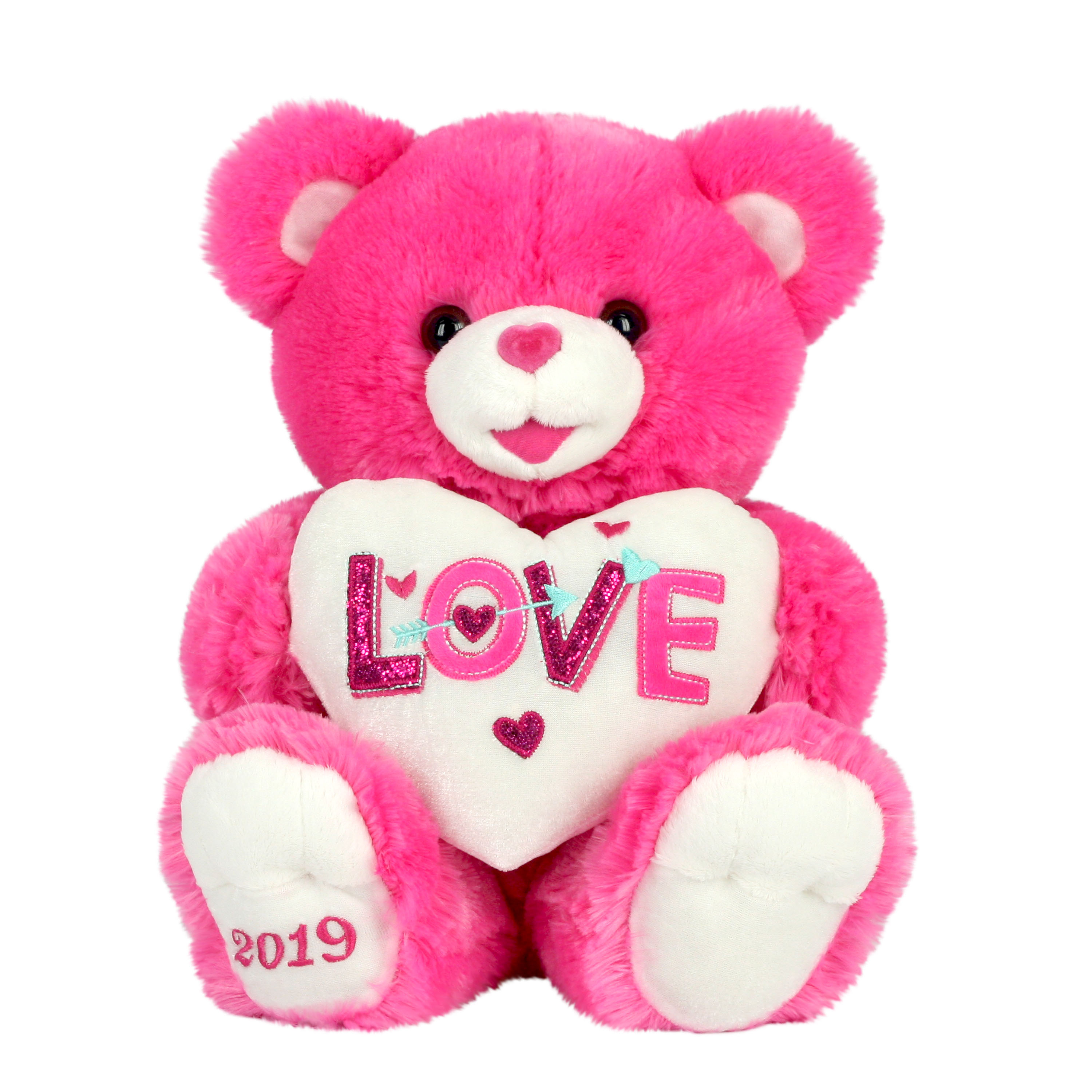 """Way To Celebrate 20"" Sweetheart Teddy 2019- Hot Pink """