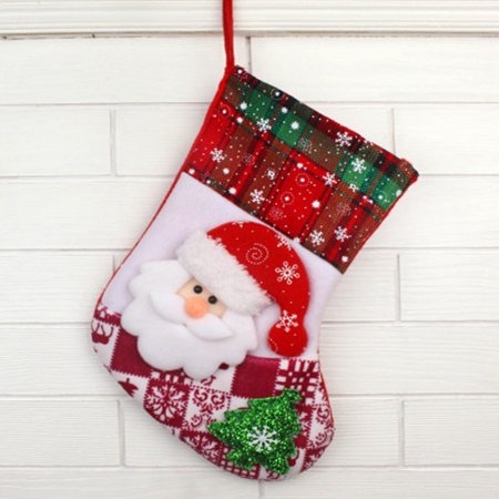 Christmas Santa Claus Snowman Elk Sock Gift Bag Tree Decoration Ornament