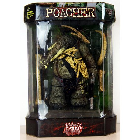 1998 Total Chaos Action Figure - Special Edition Poacher in Tank Display Case - FAO Schwarz Exclusive, hard to find By McFarlane From USA