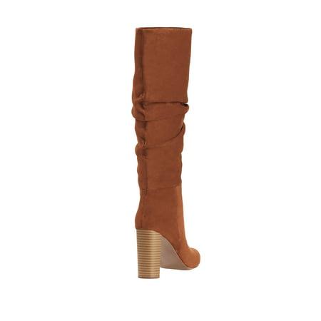Scoop Penny Microsuede High Heel Slouch Boot Women's